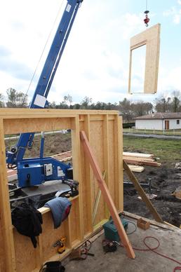 Dřevostavba domu