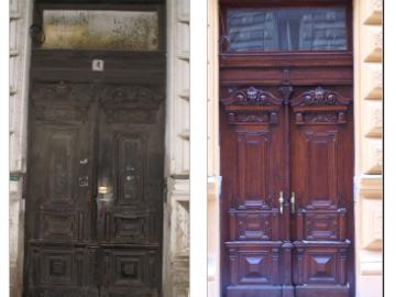Repase dveří před a po
