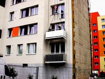 SVJ Berlínská 2751, Tábor | Montáže balkonů
