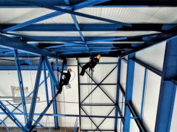 Zimní stadion Soběslav |Obnova nátěru stavební ocelové konstrukce