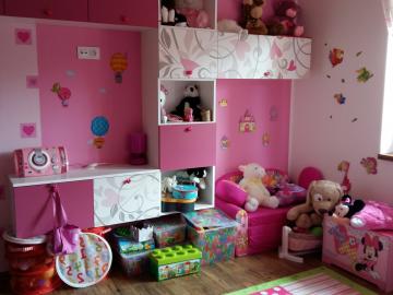 dětský pokoj -  materiál  HPL , potisk na přání, kování blum