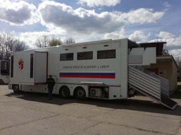 Převoz koní Národní hřebčín KLADRUBY
