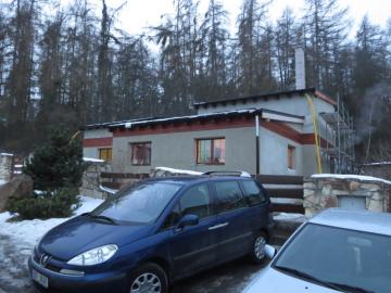 kompletní přestavba chaty na RD